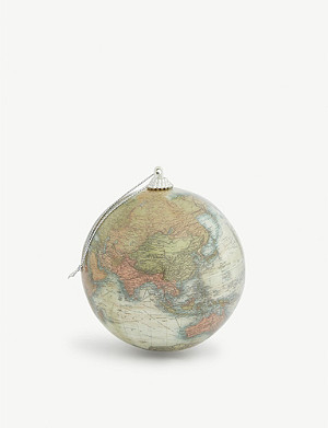 CHRISTMAS Globe map Christmas bauble 10cm