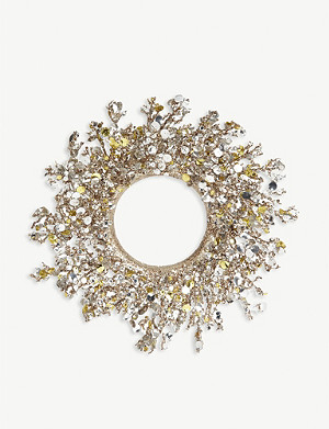 CHRISTMAS Glitter and sequins Christmas wreath 53cm