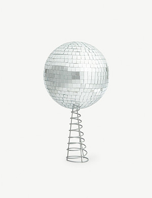 CHRISTMAS Disco ball Christmas tree topper 33cm