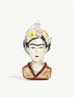 CHRISTMAS Frida Kahlo bust Christmas tree ornament 11.5cm