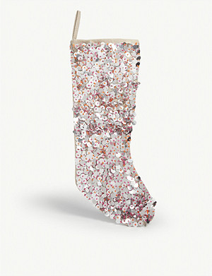 CHRISTMAS Sequin Christmas stocking 47cm