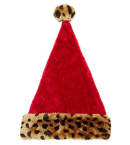 c1d840c2552bf STERLING - Animal-print cuff Santa hat