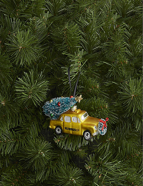 CHRISTMAS Selfridges Christmas car glass decoration 7cm