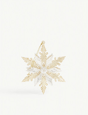 CHRISTMAS Layered glitter snowflake Christmas tree ornament 11cm