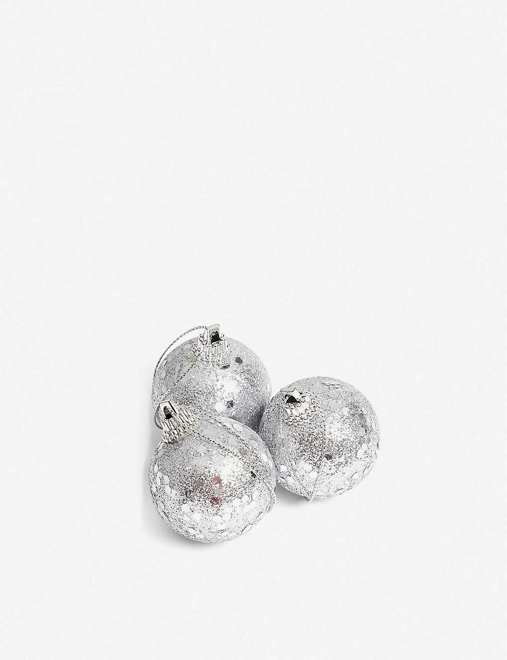 CHRISTMAS: Glitter baubles 10-pack