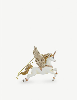 CHRISTMAS Flying unicorn Christmas tree decoration 9cm