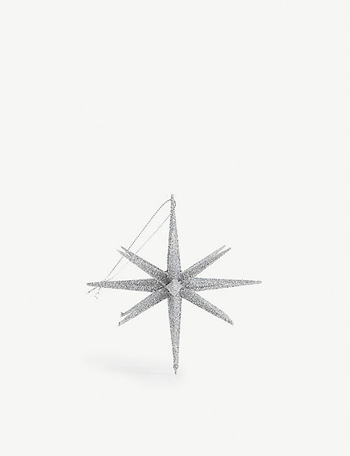 CHRISTMAS Glitter star Christmas decoration 15cm