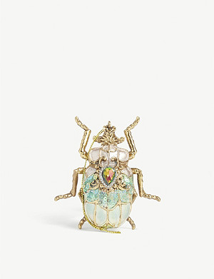 CHRISTMAS Jewelled scarab beetle Christmas tree ornament 9cm