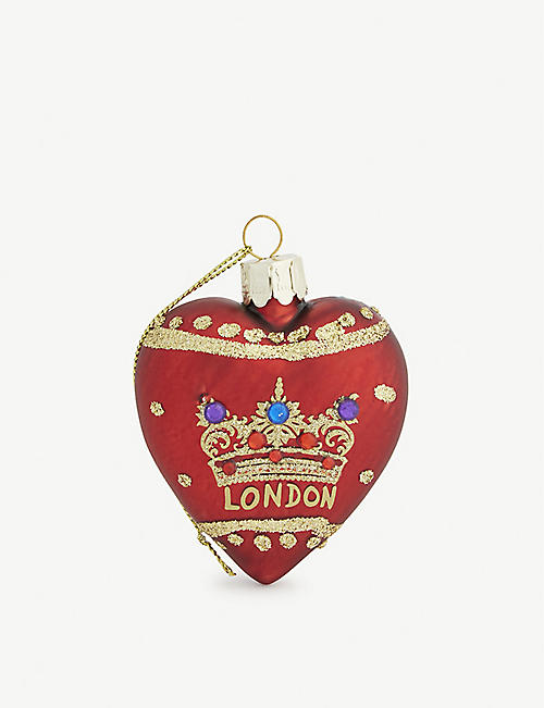 GISELA GRAHAM Regal crown hanging ornament 7.5cm