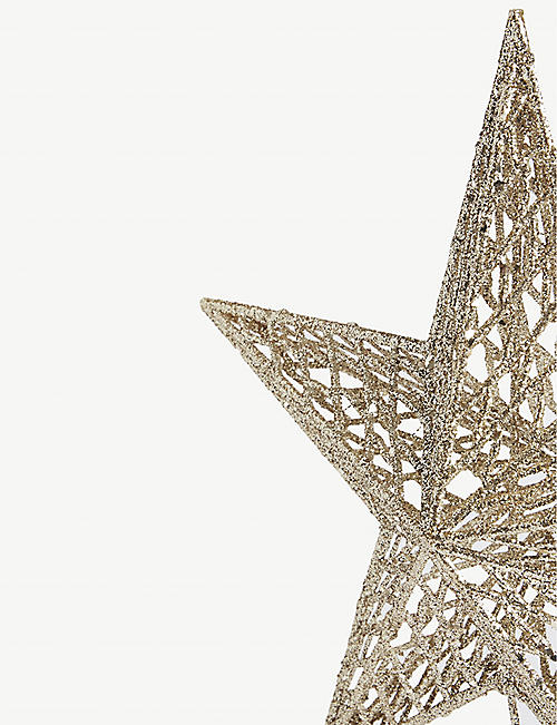 HANGING ORNAMENT Glitter star tree top decoration