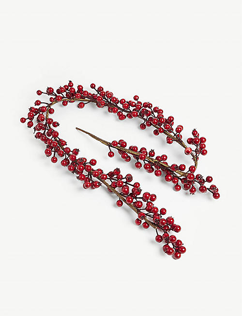 CHRISTMAS Berry branch Christmas decoration 60cm