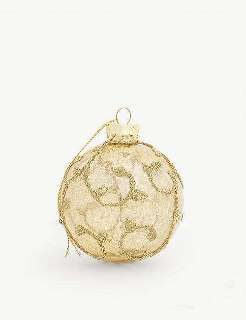 BAUBLE Embellished glass bauble 8cm