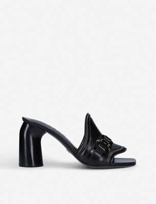 1017 ALYX 9SM BUCKLE-EMBELLISHED LEATHER MULES