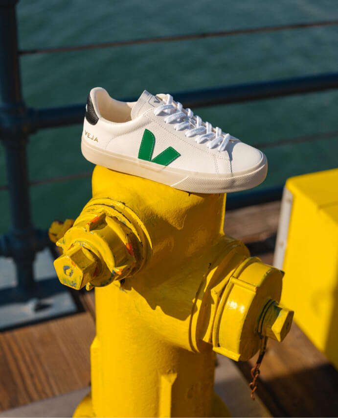 VEJA CAMPO CHROMEFREE LEATHER TRAINERS