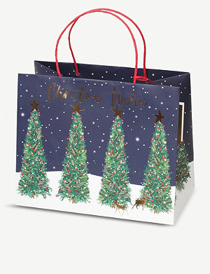 BELLY BUTTON DESIGNS Christmas tree gift bag 27.5x22.5x12cm