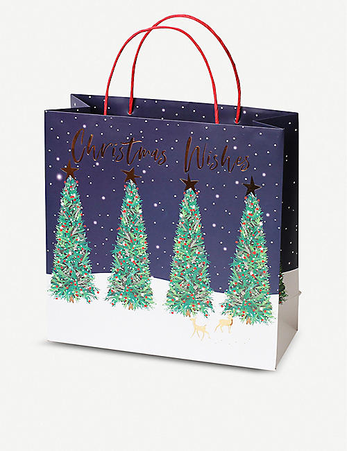BELLY BUTTON DESIGNS Christmas tree large gift bag 30x30x12cm