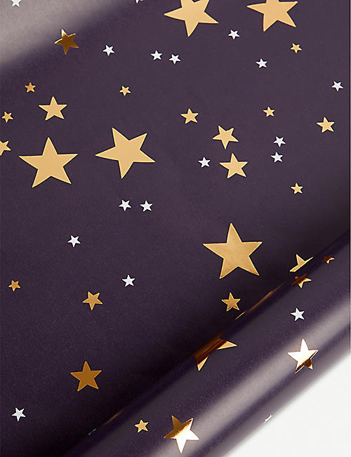 BELLY BUTTON DESIGNS Star Christmas wrapping paper 2m