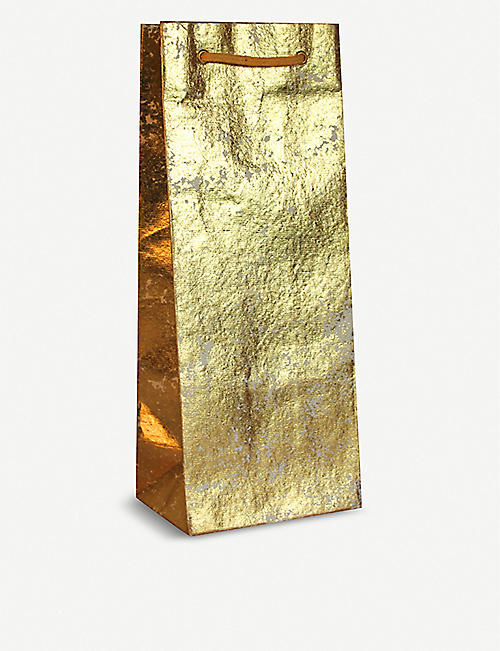 WRAP Metallic finish bottle gift bag 35.5cm
