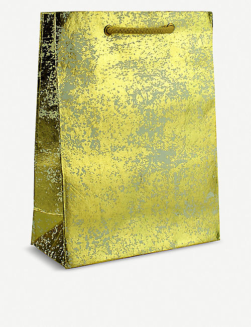 WRAP Large crushed foil gift bag 31cm