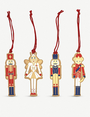 VIVID WRAP Nutcracker gift tags pack of four