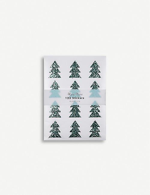 MERI MERI Christmas tree glitter stickers pack of 120