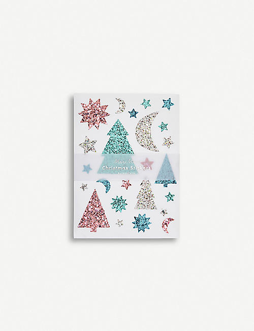 MERI MERI Glitter Christmas sticker pack of ten