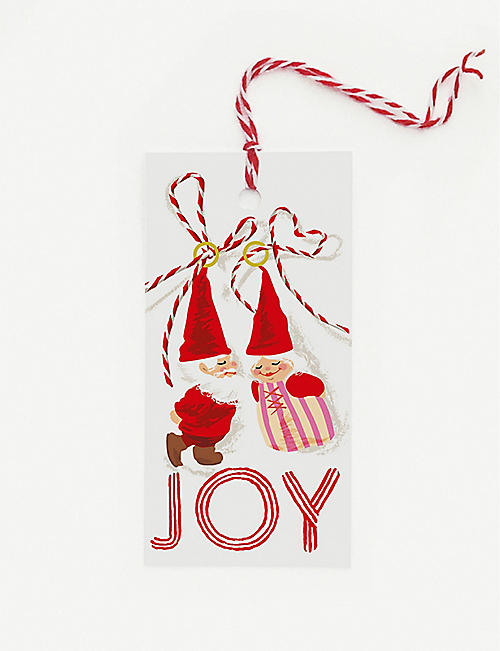 NOI PUBLISHING Mr and Mrs Claus gift tags pack of 10
