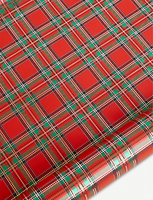 STAR PENNSYLVANIA Tartan wrapping paper 5m