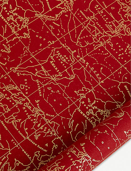 STAR PENNSYLVANIA Map print wrapping paper 5m