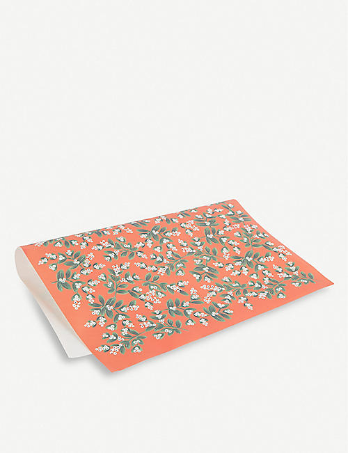 RIFLE PAPER Mistletoe wrapping sheets 50cm x 69cm set of three
