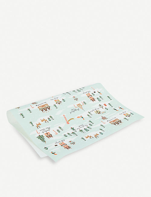 RIFLE PAPER North Pole wrapping sheets 50cm x 69cm set of three