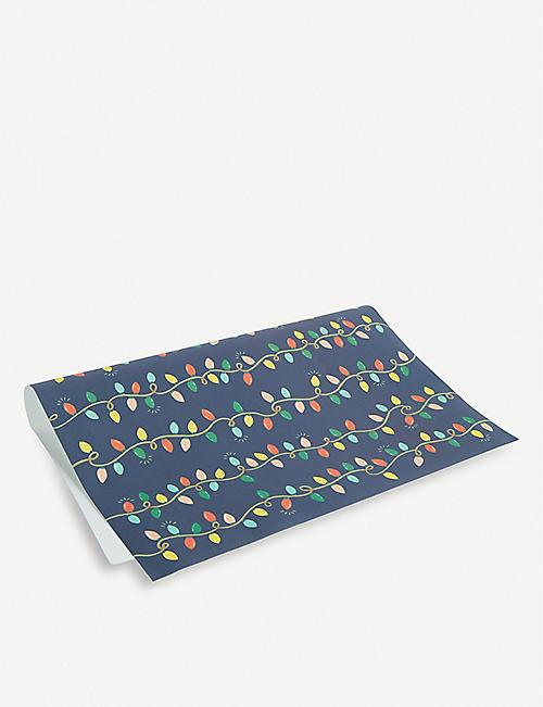 RIFLE PAPER Holiday Lights wrapping sheets 50cm x 69cm set of three