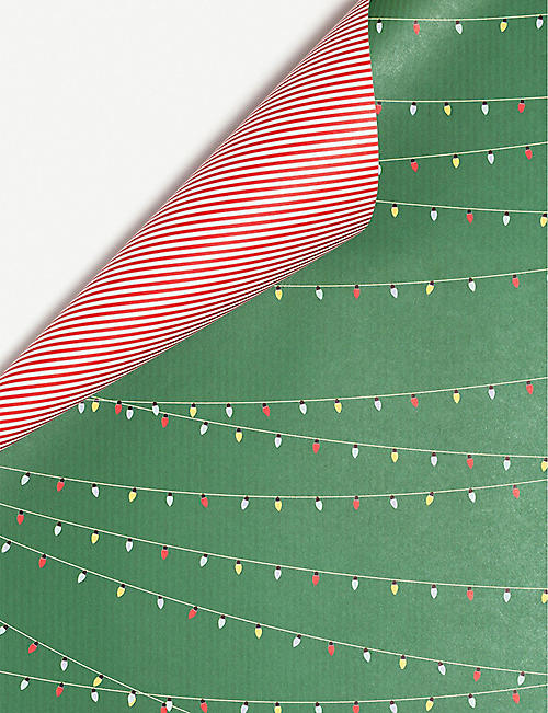 MY PRETTY CIRCUS Candy Cane reversible wrapping paper 67cm x 48cm