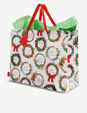 DEVA DESIGNS Christmas Wreath carrier gift bag