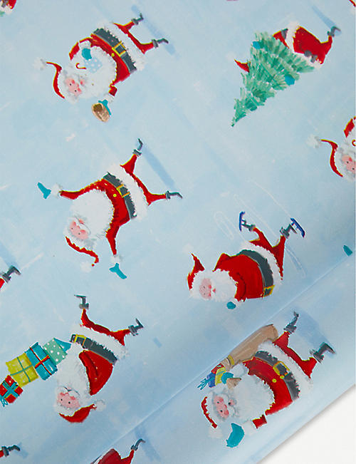 DEVA DESIGNS Christmas Time Santa wrapping paper 3m
