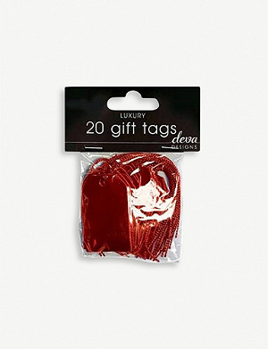DEVA DESIGNS Metallic small gift tags pack of 20