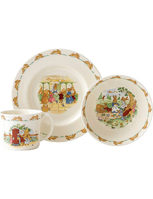 ROYAL DOULTON Bunnykins three-piece dinner set