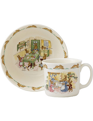 ROYAL DOULTON Bunnykins cereal bowl and one-handled hug-a-mug set