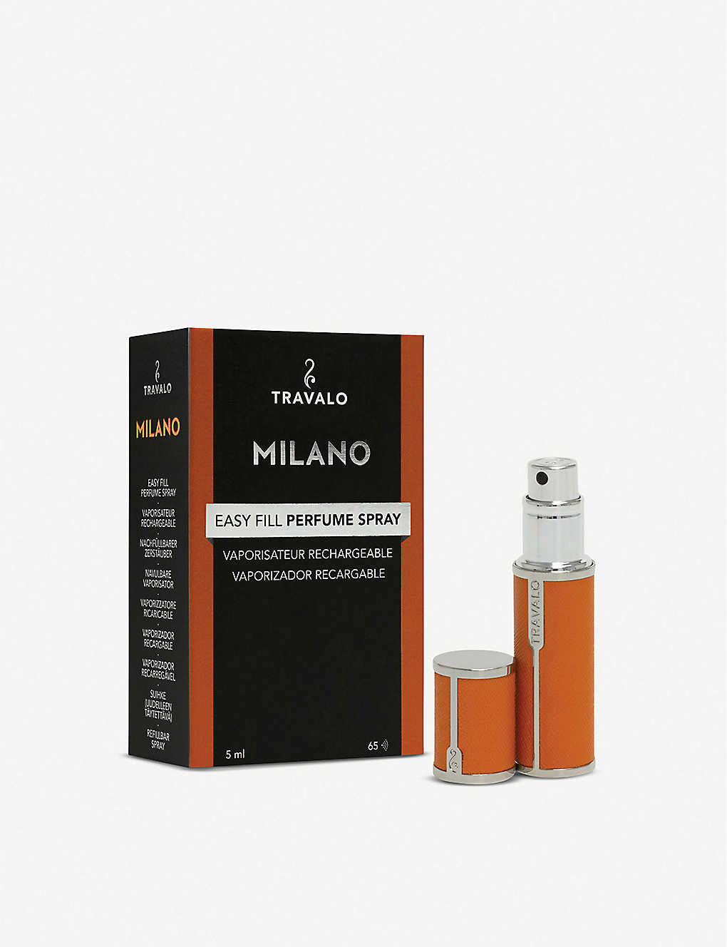 TRAVALO: Milano refillable leatherette perfume bottle