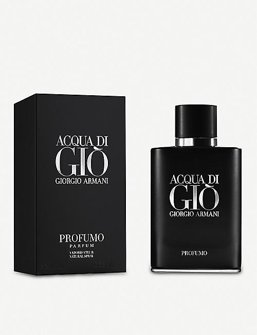 Giorgio Armani Mens Aftershave Fragrance Beauty Selfridges