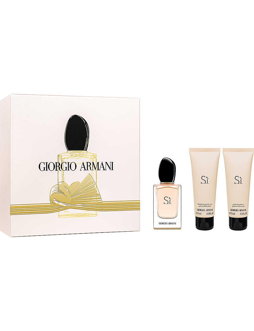 Giorgio Armani Si Eau De Parfum Gift Set 50ml Selfridgescom