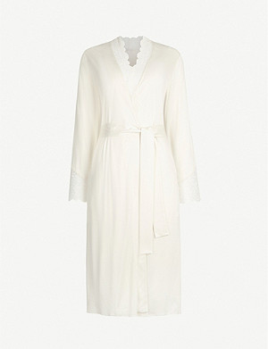 HANRO Aria stretch-jersey lace robe