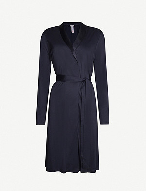 HANRO Grand Central modal and silk-blend dressing gown