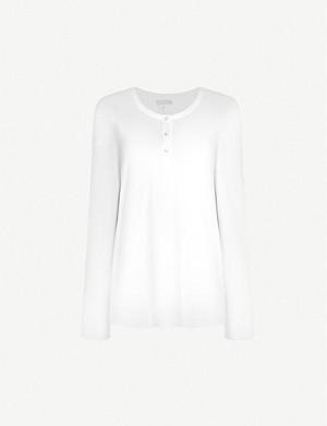 HANRO Long-sleeved cotton-blend top