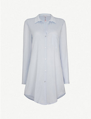 HANRO: Deluxe cotton nightshirt