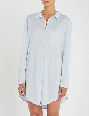 HANRO - Valencia cotton-jersey long nightdress  904099c6b