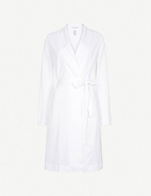 HANRO: Classic cotton-jersey dressing gown