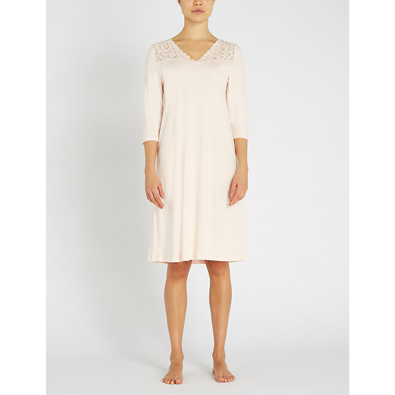 HANRO | Moments Cotton-Jersey Nightdress | Goxip