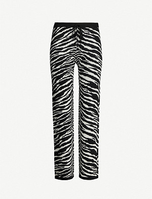 MADELEINE THOMPSON Daphne zebra-print wool and cashmere-blend jogging bottoms