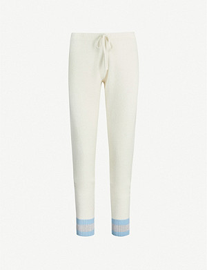 MADELEINE THOMPSON Bill stripe-trimmed cashmere jogging bottoms
